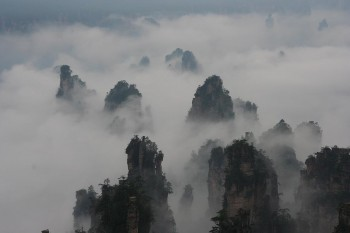 Wulingyuan rock pillars, Zhangjiajie, China