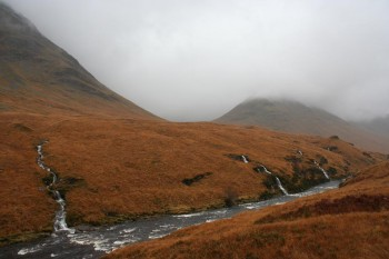 Scottish Highlands and hiking UK's highest peak Ben Nevis