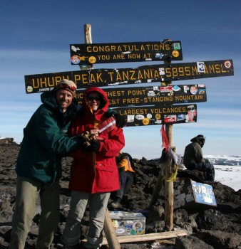 7th day: reaching summit of Kilimanjaro (Uhuru peak, 5896) – Highest peak of Africa!