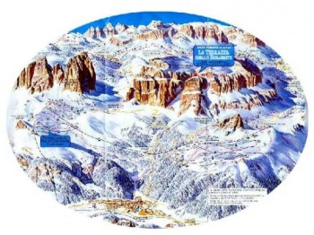 Sella Ronda: 38 km alpine skiing circle in Dolomite Alps