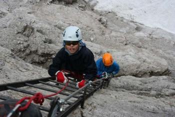 Via ferratas* in Dolomite Alps: Massive of Brenta