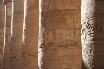 Egypt: desert, Nile river and impressive temples of Luxor