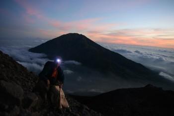 Hiking active Merapi volcano – MOVIE