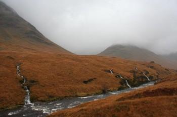 Scottish Highlands and hiking UK's highest peak Ben Nevis