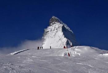 Zermatt: alpine skiing in shadow of Matterhorn