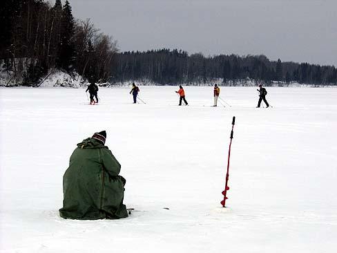 Cross country skiing in Ergli area
