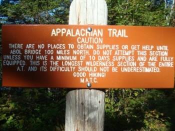 Appalachian Trail: The 100-mile wilderness, Maine, U.S.