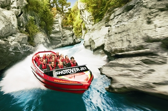 Shotover River rafting, Queenstown, New Zealand