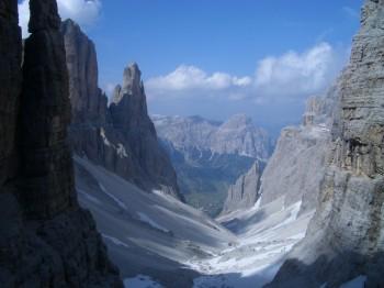Alta Via 2 trek in Dolomites, Italy
