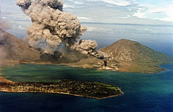 Rabaul volcano ash eruption, Papua New Guinea